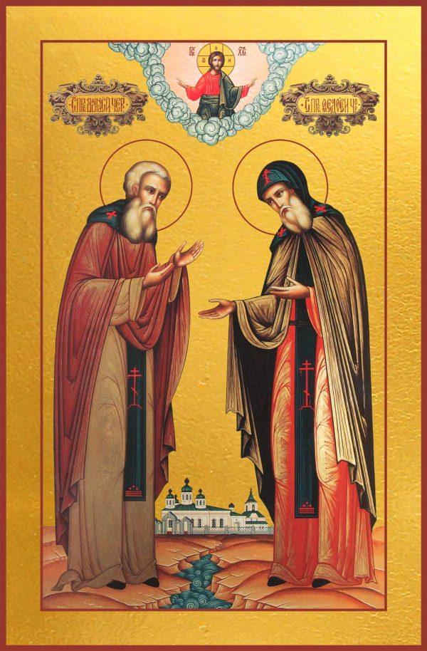 купить икону святого Афанасия и Феодосия Печерских