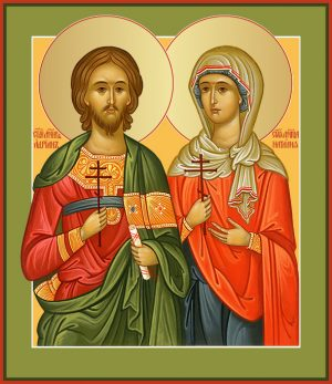 купить икону святых Адриан и Наталия