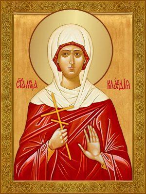 купить икону святая Клавдия Анкирская (Коринфская)