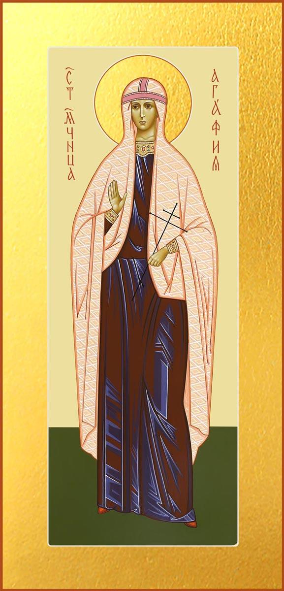 купить икону святой мученицы Агафьи