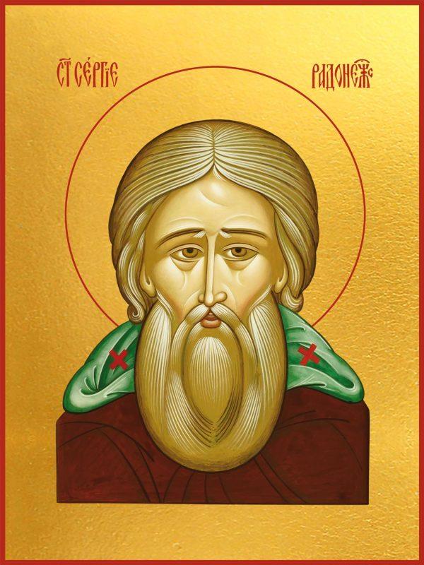 купить икону святого Сергия Радонежского