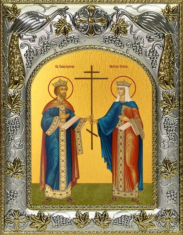 купить икону святых Константин и Елена равноапостольные