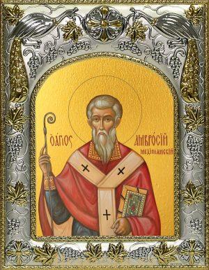 Икона Амвросий Медиоланский, святитель