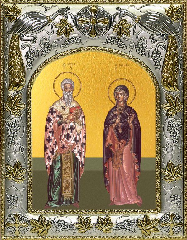 купить икону святые Киприан и Иустина
