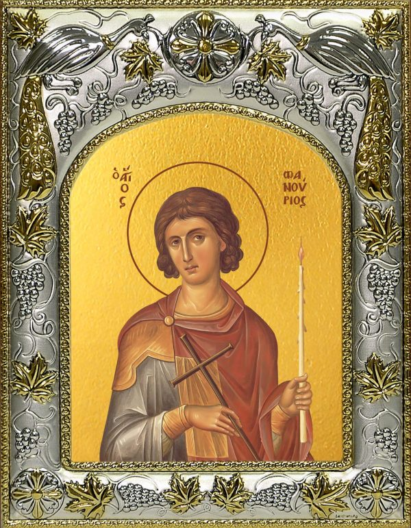 купить икону святой Фанурий Родосский