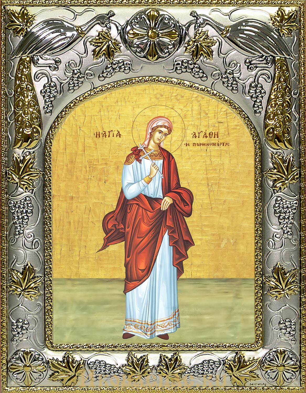 купить икону святой Агафии (Агаты) мученицы