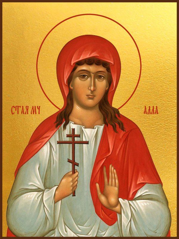купить икону святая Алла Готфская