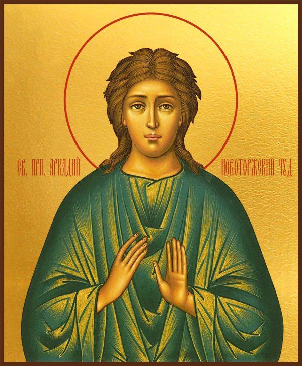 купить икону святой Аркадий Новоторжский