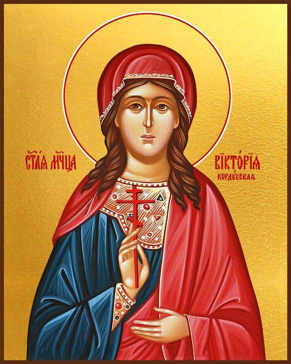 купить икону святая Виктория Кордубская