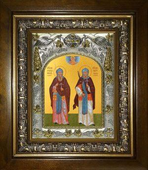 купить икону святые Пересвет и Ослябя святые воины