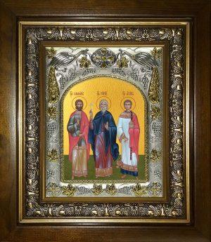купить икону святые Гурий, Самон и Авив мученики