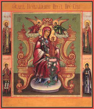 купить икону Неувядаемый Цвет икона Божией Матери