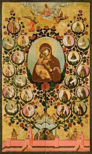 купить икону Похвала Владимирской иконе Божией Матери