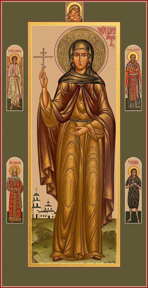 Мерная икона Дария Зайцева, преподобномученица, послушница
