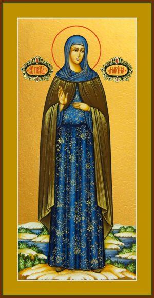 Мерная икона Марина Берийская (Македонская), преподобная дева