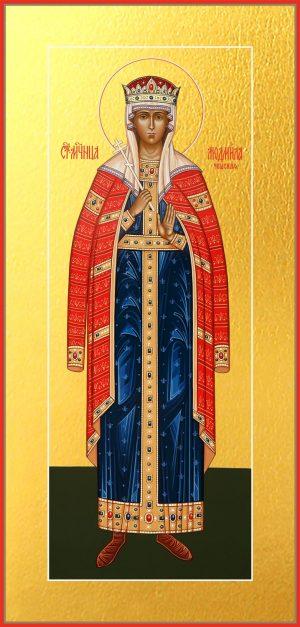 Мерная икона Людмила мученица, княгиня чешская