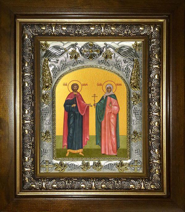 купить икону святые Адриан и Наталия мученики