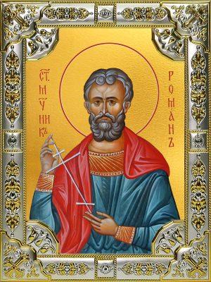 купить икону святой Роман Кесарийский
