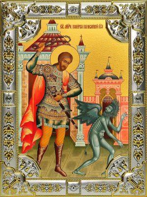 купить икону святой Никита Бесогон