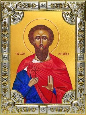 купить икону святой Леонид мученик