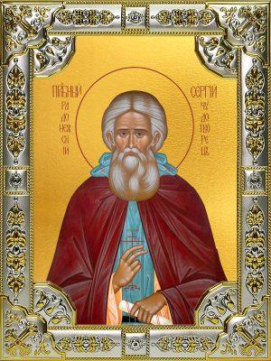 купить икону святой Сергий Радонежский