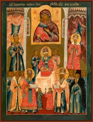 купить икону Положения Ризы Пресвятой Богородицы во Влахерне
