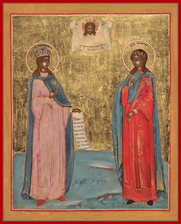 купить икону Екатерина и Варвара великомученицы