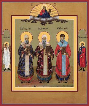 купить икону Петр, Алексий, Иона митрополиты Московские