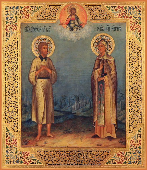 купить икону Алексий человек Божий и Мария Египетская