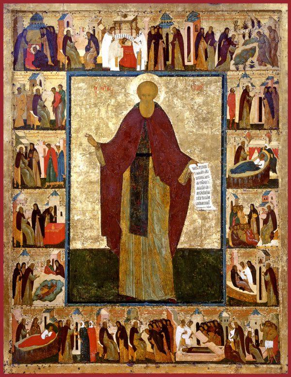 купить икону Кирилл Белоезерский