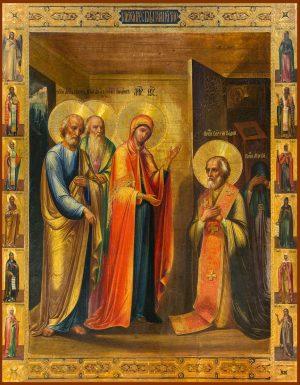 купить икону Явление Пресвятой Богородицы преподобному Сергию Радонежскому