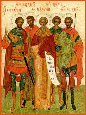купить икону Евстратий, Авксентий, Евгений, Мардарий и Орест Севастийские