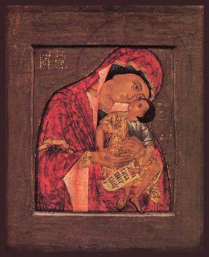 купить икону Божией Матери Взыграние Младенца Угрешская