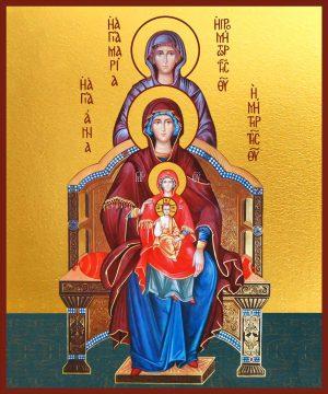 Купить икону Богородица со сродницами