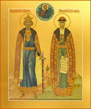 купить икону Владимир и Ольга равноапостольные князья