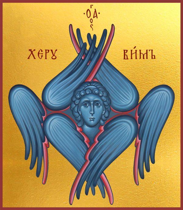 Купить икону Херувима Шестикрылого