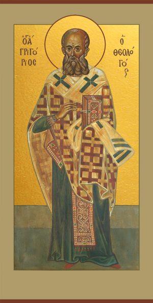 Мерная икона Григорий Богослов святитель