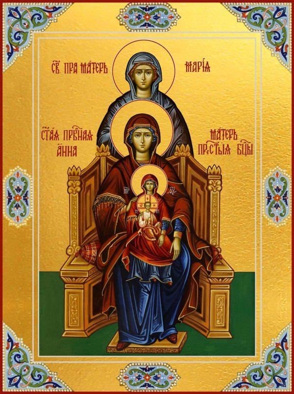 Пресвятая Богородица с Младенцем Христом; Праведная Анна, мать Пресвятой Богородицы, и Праведная Мария, мать Праведной Анны