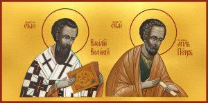 купить икону Петр апостол и Василий Великий
