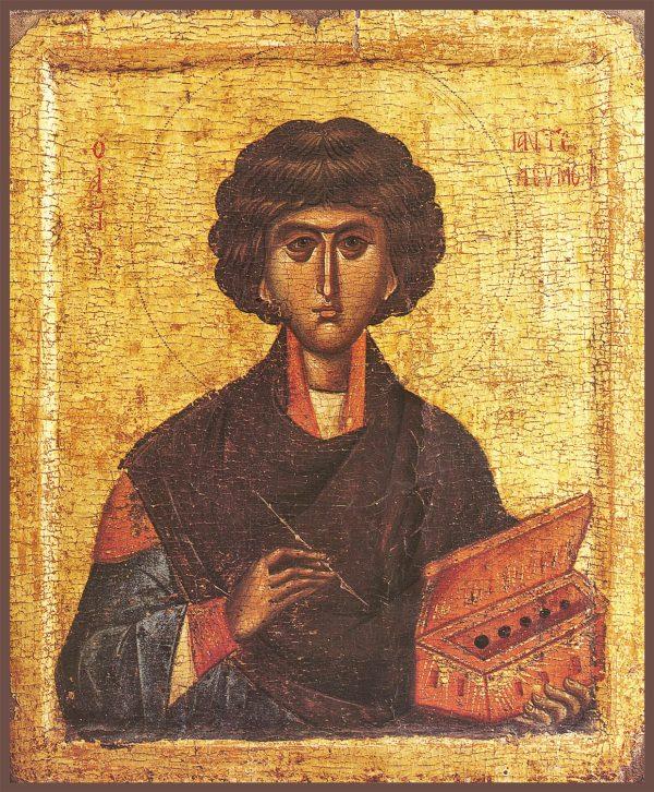 купить икону святого Пантелеимона великомученика и целителя