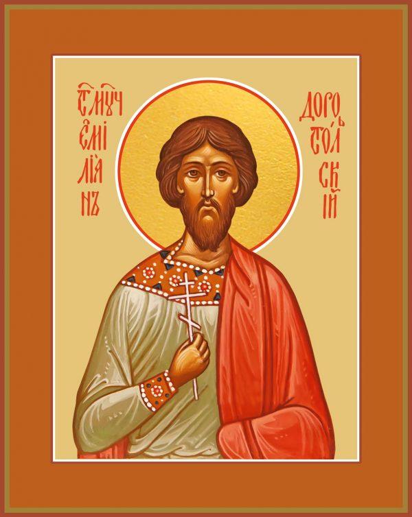 купить икону святого Эмилиана (Емилиана) Доростольского, мученика