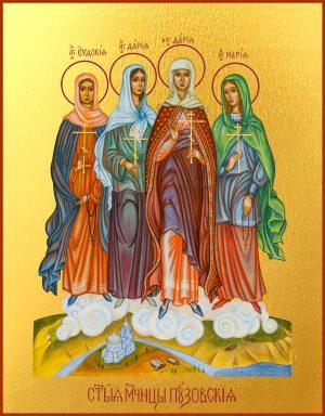 купить икону Пузовских мучениц Евдокии, Дарии, Дарии и Марии