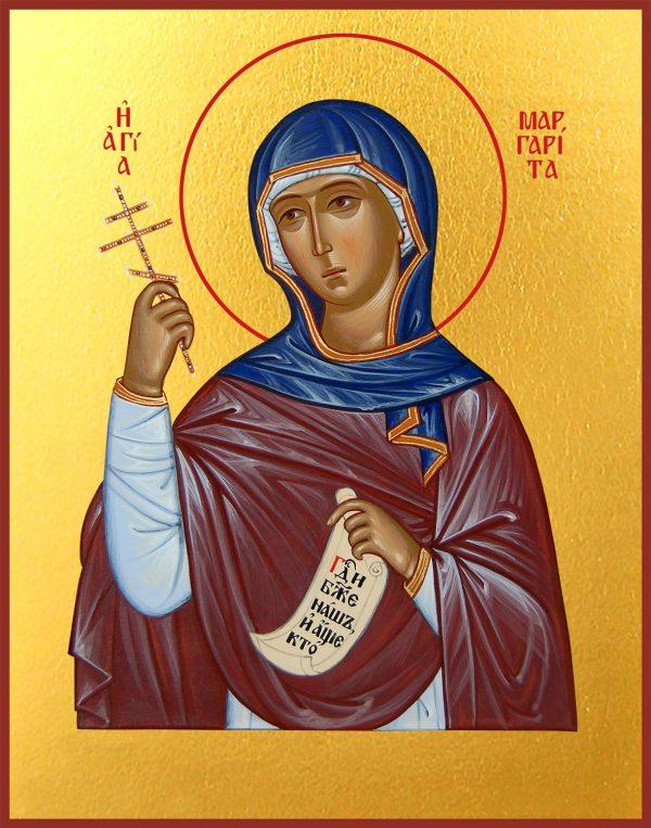 купить икону Маргариты Антиохийской великомученицы