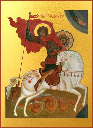 купить икону Георгия Победоносца великомученика, Чудо Георгия о змие