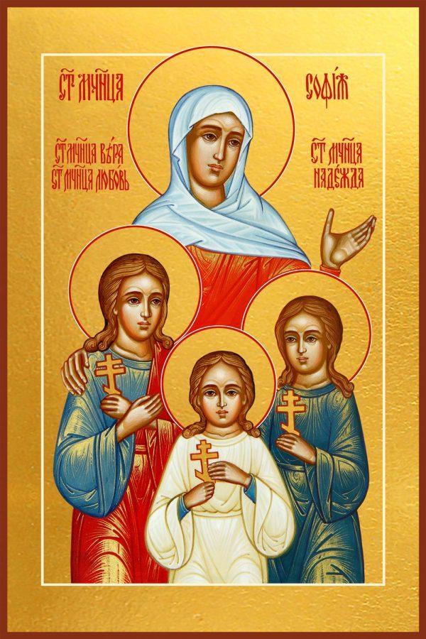 купить икону Веры, Надежды, Любови и их матери Софии мучениц