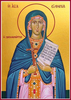 купить икону святой Евфимии Всехвальной