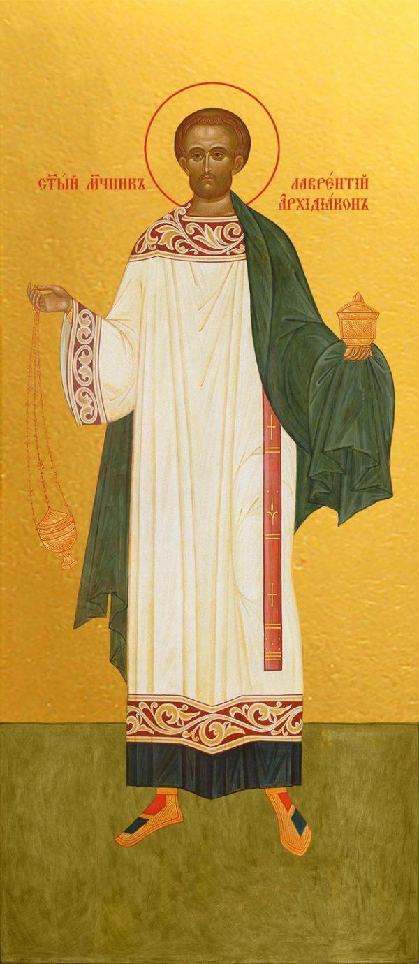 купить икону святого Лаврентия архидиакона