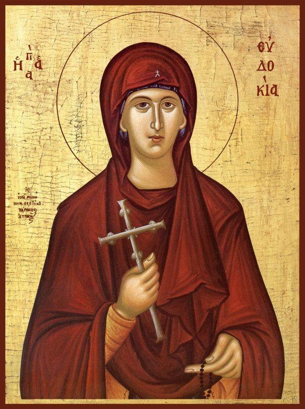 купить икону святой Евдокии Илиопольской