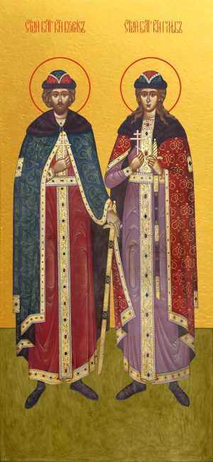 купить икону Борис и Глеб благоверные князья-страстотерпцы