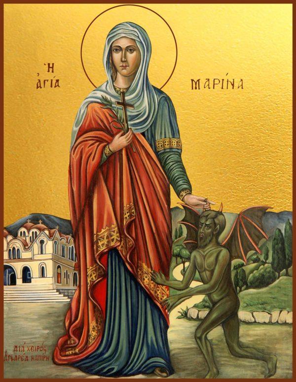купить икону святой Марины великомученицы